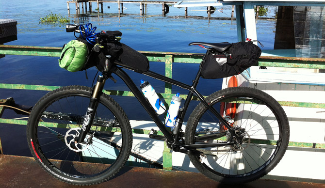 Bike on the Fort Gates Ferry, CFITT Race