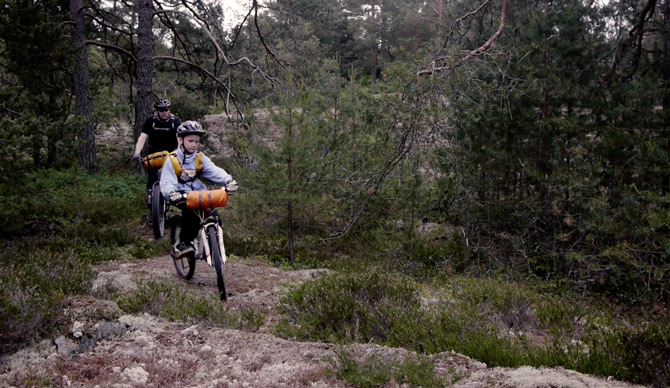 Father and Son Bike Camping Trip